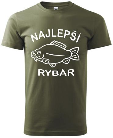 d449853f3ea7 Pánske tričko Najlepší rybár