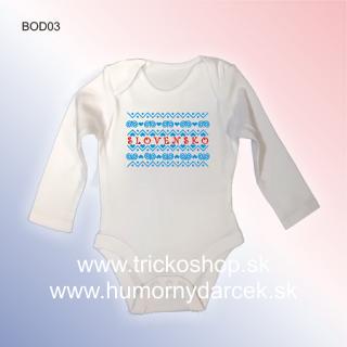 6ecf285182cc6 Dojčenské body Čičmiansky vzor